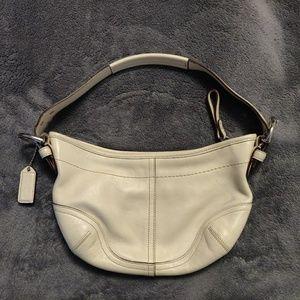 White Coach hobo style handbag